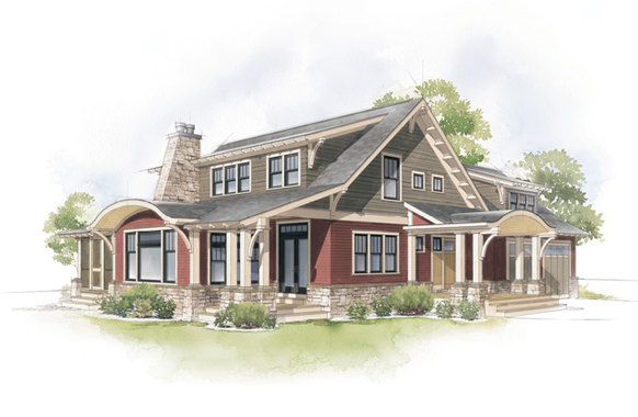 craftsman-bungalow-home-style-illustration