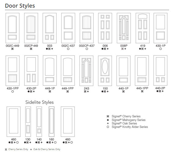 Embarq door styles