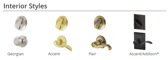 Schlage knob and lever locksets