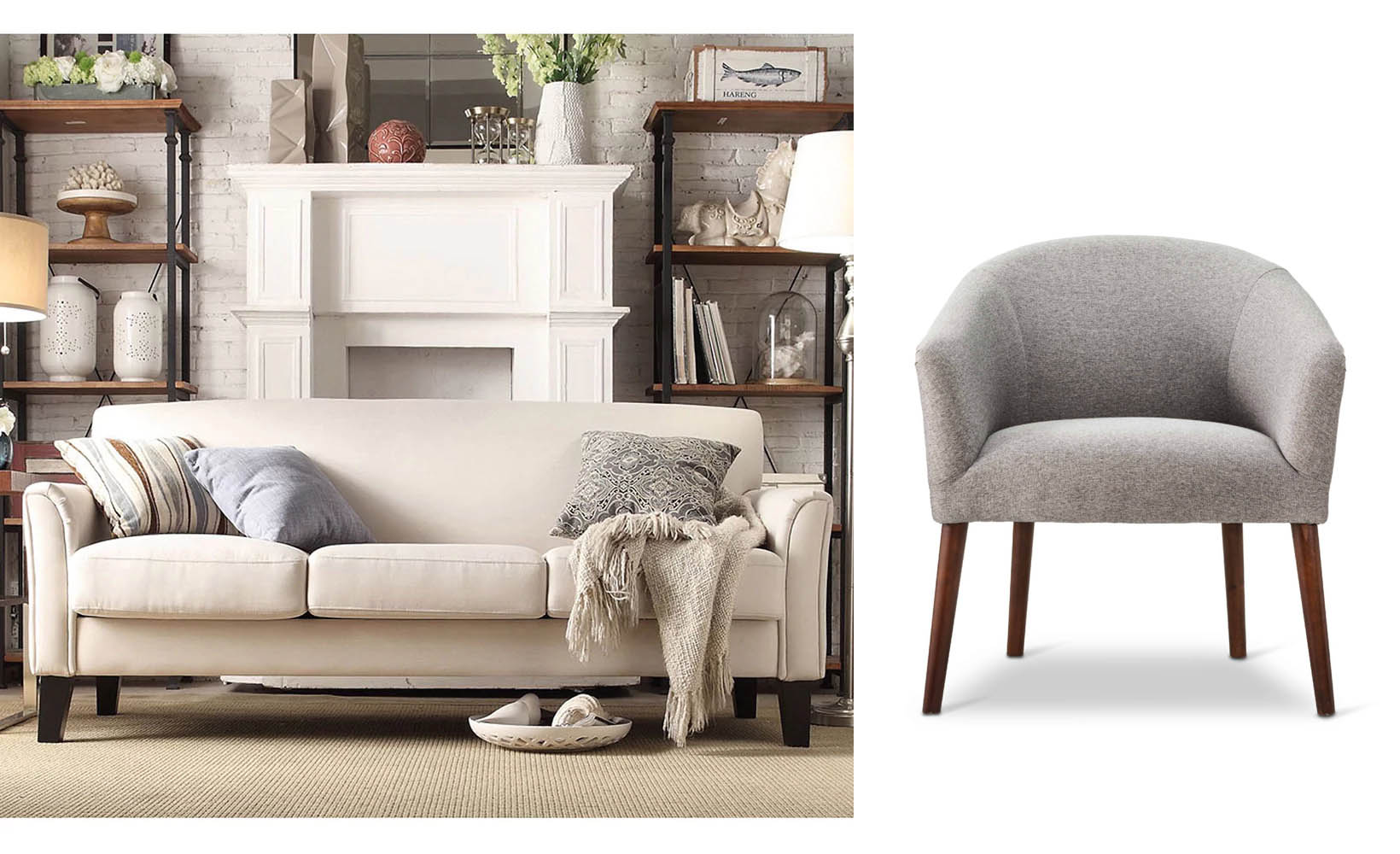 It May Seem Like New Furniture Is A Large Investment, But You Can Get This  Sofa At $370 At Overstock And This Chair For $180 At Target.com.